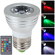 3W E27/E14/GU10 RGB Color Changing LED Light Bulb Lamp with Remote Control(85-265V)
