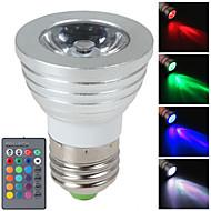 Luces LED de Escenario Regulable / Control Remoto / Decorativa HRY MR16 E14 / GU10 / E26/E27 3 W 1 LED de Alta Potencia 250 LM RGBAC
