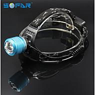 Faros Correas LED 3 Modo 2000 Lumens Enfoque Ajustable / Recargable / Zoomable Cree XM-L T6 18650.0Camping/Senderismo/Cuevas / Caza /
