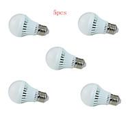 5pcs HRY® 3W E27 300LM 2835SMD Warm/Cool White Sound & Light Control Lamp LED Smart Bulbs(220-240V)