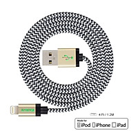 CARVE 4ft(1.2M) MFI Certified Lightning to USB Sync and Charge Cable for Apple iPhone 5/5s/ 6/6 Plus/ iPad mini