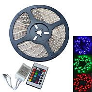 JIAWEN® 5 M 300 5050 SMD RGB Vandtæt 60 W Fleksible LED-lysstriber DC12 V