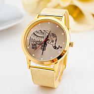 horloge vrouwen mode gouden horloges legering riem olifant quartz horloges