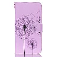 Voor Samsung Galaxy hoesje Kaarthouder / Portemonnee / met standaard / Flip hoesje Volledige behuizing hoesje Paardenbloem PU-leer Samsung