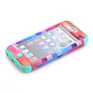 Nacionalidade padrão de design 3-em-1 caso difícil de proteção para o iPod touch 6 cores sortidas