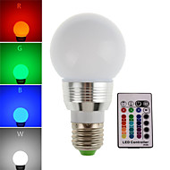 HRY® 3W E27/E14 180LM RGB LED Bulb Lamp Led Spot Light with Remote Control (85-265V)