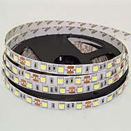 js 5m ledet 300 * 5050 SMD DC12V varmhvit / kaldhvit LED Strip lampe 72w