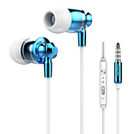 Langsdom M300 Fashion Metal Super Bass In-ear Microphone Volume Control Remote Cellphone Headphone