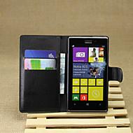 Mert Nokia tok Pénztárca / Kártyatartó / Állvánnyal Case Teljes védelem Case Egyszínű Kemény Műbőr Nokia Nokia Lumia 925