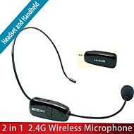 oxlasers boi-xxd18 mini-2.4g fone de ouvido portátil microfone sem fio com plug de 3,5 mm jack para conferência e professor