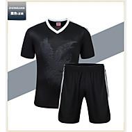 남성의 축구 셔츠 + 반바지 의류 세트/수트 통기성 빠른 드라이 초경량 재질 봄 여름 가을 겨울 클래식 테릴렌 축구 달리기