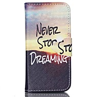 Dreaming Pattern PU Leather Case with Card Slot and Stand for Samsung Galaxy S4 mini/S3mini/S5mini/S3/S4/S5/S6/S6edge+