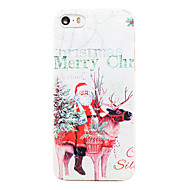 Christmas Style Santa Riding Elk Pattern Transparent PC Back Cover for iPhone 5/5S