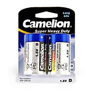 Camelion de super pesados baterias de pilhas tamanho d (2pcs)