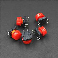elektrisk kraft kontroll 4-pinners knapp bytte; (5pcs)