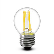 1 pcs SML E14 / E12 / E26/E27 4 W 4 COB 400 LM Warm White G45 Dimmable LED Filament Bulbs AC 220-240 / AC 110-130 V