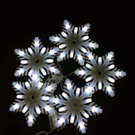 Christmas Decoration Milky White Little Snowflake LED String Lights, with AC220V Voltage Input 2.5 Meter a Set
