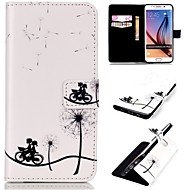 Embossed PU Leather Holster for Samsung Galaxy S5/S6/S6 edge/S6 edge Plus