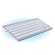 81 Key Slim Portable Bluetooth Wireless Keyboard Chiclet Keys White Silver
