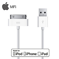 MFI 30-Pin to USB Data Sync / Charge Cable for Apple iPhone 4 / 4s / 3GS  / iPad /iPod