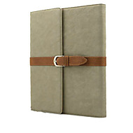 With Elastic Belt Wind Restoring Ancient Ways Flip PU Leather Case Cover For iPad Air(Assorted Color)