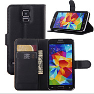 For Samsung Galaxy Case Card Holder / Wallet / with Stand / Flip Case Full Body Case Solid Color PU Leather SamsungS7 edge / S7 / S6 edge