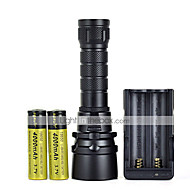 LT  2 Mode 2000 Lumens Diviing 120M Cree XM-L T6 LED Flashlight