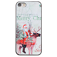 Christmas Style Santa and Deer Pattern PC Hard Back Cover for iPhone 5/5S
