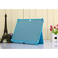 For Samsung Galaxy Case with Stand / Auto Sleep/Wake / Flip / Magnetic Case Full Body Case Solid Color PU Leather SamsungTab 4 10.1 / Tab