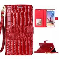 krokodil grain patroon pu lederen full body case cover voor Samsung Galaxy s6 (verschillende kleuren)