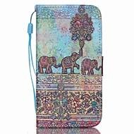 For Samsung Galaxy etui Pung / Kortholder / Med stativ / Flip Etui Heldækkende Etui Elefant Kunstlæder SamsungS6 edge plus / S6 edge / S6