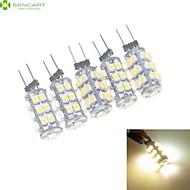 2W G4 LED Doppel-Pin Leuchten MR11 25 SMD 3528 120-160 lm Warmes Weiß / Natürliches Weiß Dimmbar DC 12 / AC 12 V 5 Stück