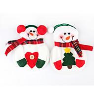 2pcs bonhomme de neige noël noël argenterie art de la table support dîner couverts de décoration (couleur aléatoire)