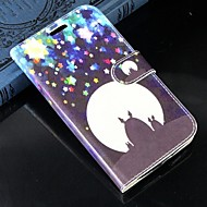 Varten Samsung Galaxy kotelo Korttikotelo / Lomapkko / Tuella / Flip Etui Kokonaan peittävä Etui Piirros Tekonahka SamsungS Advance / Win