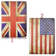 7.9 calowy wysokiej jakości wzór flagi obrót 360 stopni Pokrowiec na pu Mini iPad 4 (różne kolory)