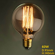 G95 Straight Wire 110V-240V 60W Round Dining Table Retro Bar Creative Modern Decorative Nostalgia Edison Bulb