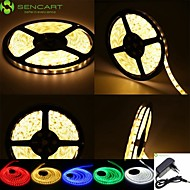 5M 25W 300x2835SMD Cold White / Warm White LED Strip Lamp + EU / US Power Supply Adapter AC100-240V