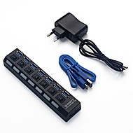 7 PORT USB 3.0 HUB High Speed Power Cable For PC Desktop Laptop Notebook