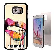 personalizirane slučaj - Usne dizajn metala slučaj za Samsung Galaxy S6 / S6 rubu / bilješki 5 / A8 i drugima