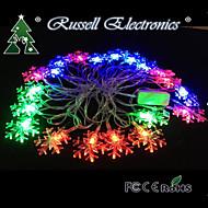 4m 20 førte christmas sne rgb form string fairy lys jul xmas ideal