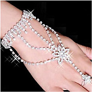 Női Wrap Karkötők Gyűrű karkötők Ötvözet Strassz Ezüstözött utánzat Diamond Star Shape Fehér Ékszerek 1db