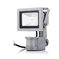 Waterproof 10W 1000LM 2800-6500K White Light PIR Motion Sensor LED Flood Light Induction Lamp (AC85-265V)