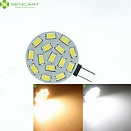 G4 / MR11/ GU4 / GZ4  7.5W 15x5630SMD  Warm White/ White 900LM Led Light Bulbs (9-36V AC/DC)