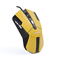 ESTONE E2100 Orange Mouse High Precision 3200 DPI Wired USB Laser Gaming Mouse for PC