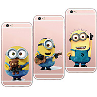 MAYCARI®Smiling Mr.Minions Transparent TPU Back Case for iPhone 6/iphone 6S(Assorted Colors)