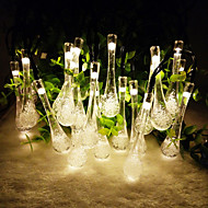 King Ro 6.5M 30LED WaterDrop Shape String Light for Christmas Solar Outdoor Waterproof Fairy Light