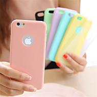 Käyttötarkoitus iPhone 8 iPhone 8 Plus iPhone 5 kotelo kotelot kuoret Ultraohut Takakuori Etui Yhtenäinen väri Pehmeä TPU varten iPhone 8