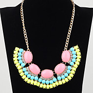 Women's Bohemia style fluorescent acrylic alloy sweater Necklace