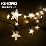 King RoSolar String 6.5M 30LED Star Shape Christmas Decor Party Flashing Outdoor Waterproof Fairy Lights