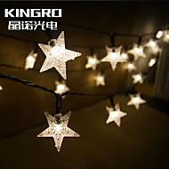 kuningas rosolar string 6,5 30led tähden muotoinen joulu sisustus osapuoli vilkkuu ulkona vedenpitävä värivalot